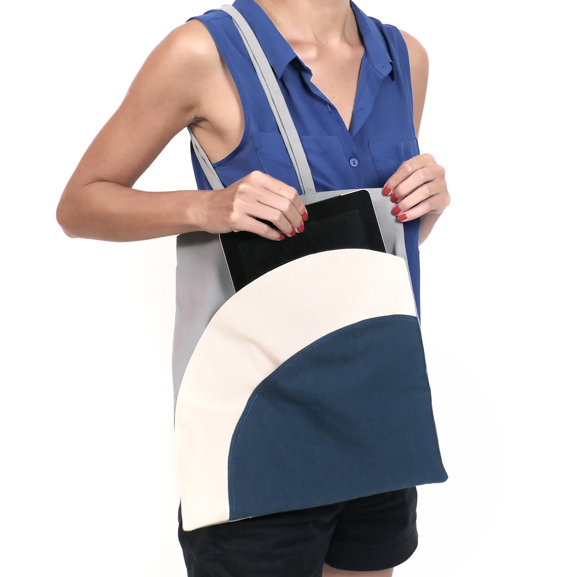 Tote Bag Shapes Gift Take Shapes Canvas Tote
